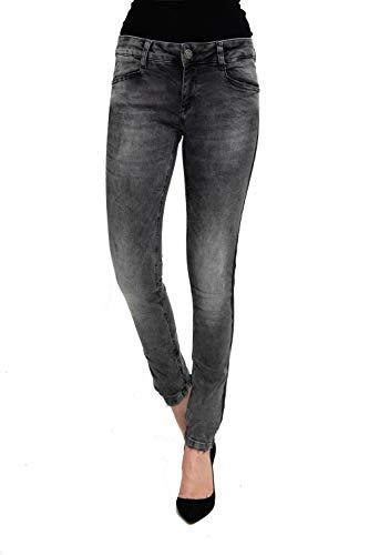 Zhrill Damen Jeanshose Röhrenjeans 5 Pocket Vintage Skinny Fit Blake, Größe:W29 / L32, Farbe:W9073 - Black
