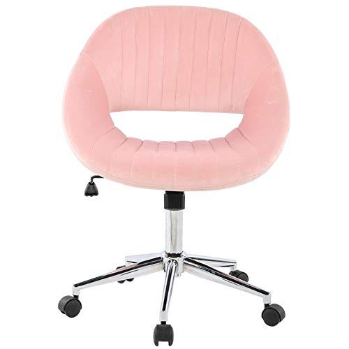 Ankleidestuhl Bequem Great Lumbar Support Office Supplies Samtstuhl Einfache und elegante Haushaltsmöbel(Pink)
