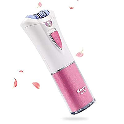 Electric Hair Epilator Removal for Women with LED Light - Cordless Epilator for Lady Legs Arms and Face, Safe Trimmer Tweezers for Lady Arm Underarm Chin Bikini Leg (Batteries) from SOULBEST