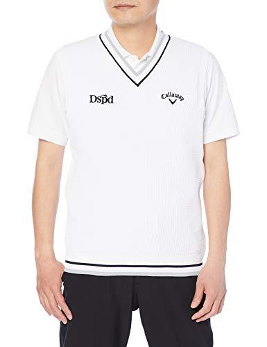 [キャロウェイ] [メンズ] セーターベスト (ロゴ・撥水セーター) / 241-1119501 / ゴルフ 030_ホワイト LL