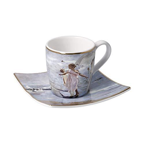 Taza de café expreso Time for a Bath Joaquin Sorolla 100 ml, porcelana
