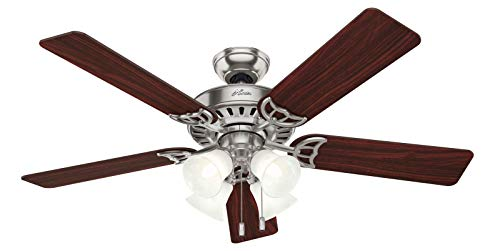 Hunter Studio Series Indoor Ceiling Fan with LED Lights and Pull Chain Control