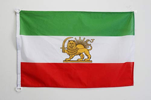 AZ FLAG Flagge Iran ALT 90x60cm - IRANISCHE Fahne 60 x 90 cm Aussenverwendung - flaggen Top Qualität
