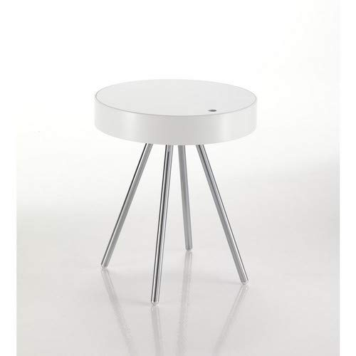 Wink Design Spok Comodino, Legno, Bianco, 45.5x45.5x53 cm
