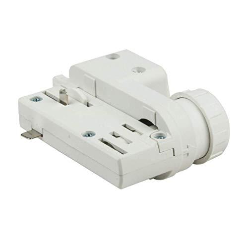 3 Phasen Adapter Universal - passend für EUTRAC oder GLOBAL für Schienenstrahler Stromschiene - GA69 (weiß)