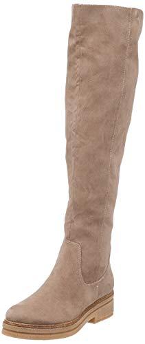 Tamaris 1-1-25569-39 Damen Stiefel, Overknee, Boot, Winterstiefel, Herbstschuh für die modebewusste Frau, funktionaler Reißverschluss beige (Dune), EU 37
