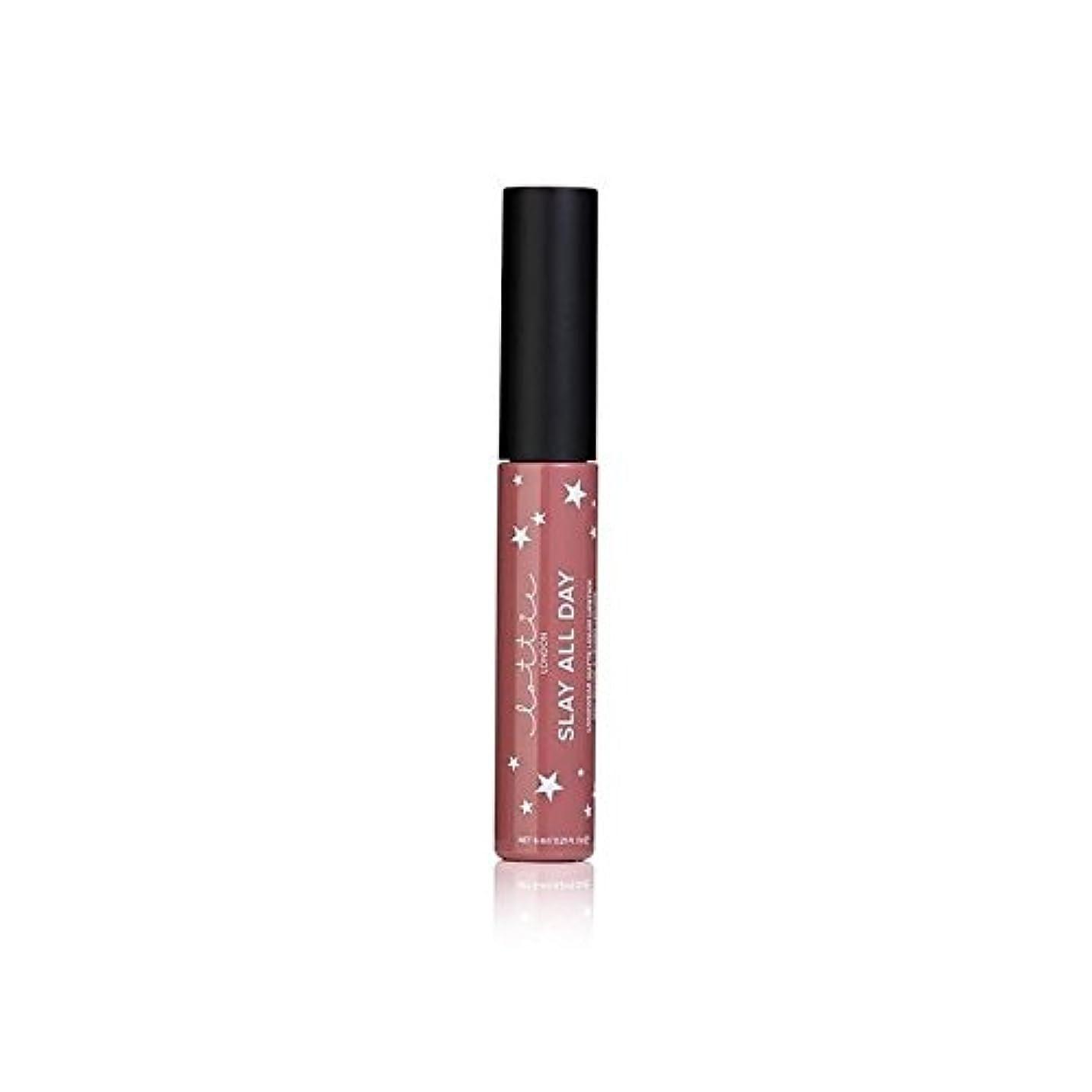 ハンドブック国家移住する# - ロンドンマット液体口紅を x2 - Lottie London Matte Liquid Lipstick - #TBT (Pack of 2) [並行輸入品]