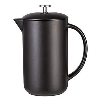 Cutiset Premium Ceramic French Press Coffee and Tea Maker, 34 Ounce