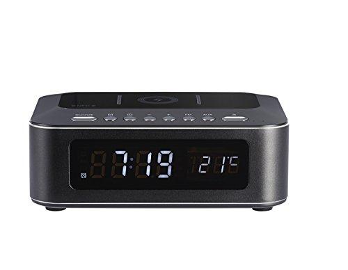 Bigben Interactive CR400IBT Horloge Numérique Noir Radio Portable - Radios Portables (Horloge, Numérique, FM, Blanc, 3,5 mm, Noir)