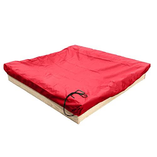 Cubierta para caja de arena, portátil, plegable, impermeable, protección para arenero, jardín, patio, cuadrado, multicolor, para niños, juguete de arena, 120 x 120 x 20 cm