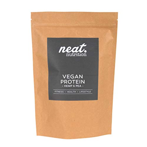 NEAT NUTRITION Vegan Protein Powder, Natural Plant Power from Hemp & Pea - Chocolate - 1KG