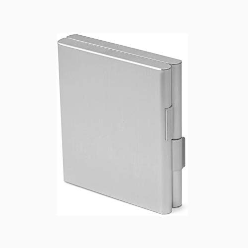 SHGK Caja Creativa Cigarrillos Estuche para Cigarrillos de Metal Ultraligero con Bolsillo Abierto de Doble Cara para 20 Cigarrillos Regalo de Negocios Ideal.