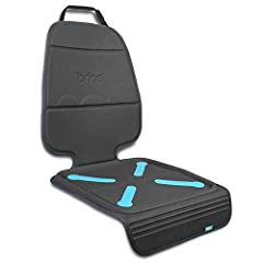 The product measures 45 inch length x 20 inch width. Color safe construction won't bleed onto upholstery Dual grip traction technology grips on both sides to help minimize unwanted car safety seat movement Rear facing kick mat provides complete seat ...