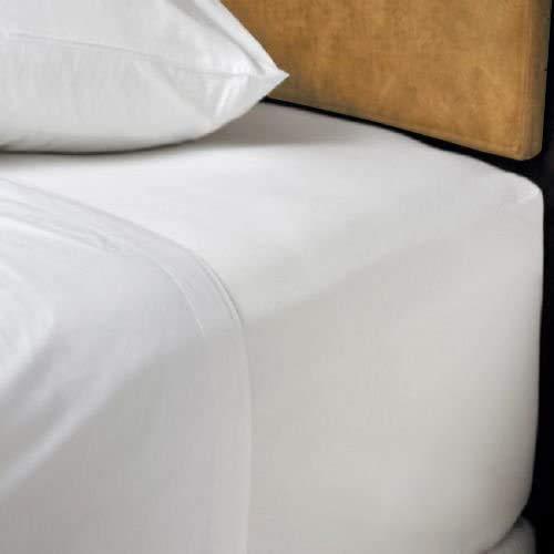 "Noah""s Linen - Sábana bajera para cama doble extra grande, 100 % algodón, 200 hilos, 40 cm"