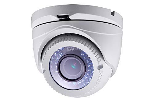 SAFIRE HDTVI camera 1080p (25FPS) - Power Over coaxiaal (PoC 2 megapixel High Performance CMOS - Varifocale lens 2,8~12 mm - IR LEDs bereik 40 m - OSD Remote menu van DVR