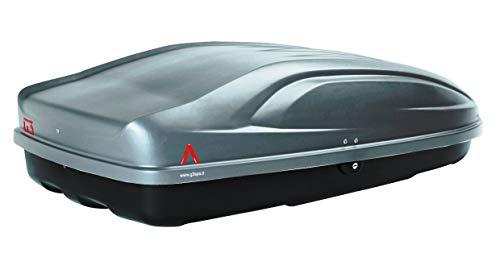 PROPOSTEONLINE Box Portatutto Portapacchi Portabagagli Baule da Tetto Auto Dimensioni 133 x 73 x 36 CM in Colore Grigio Scuro