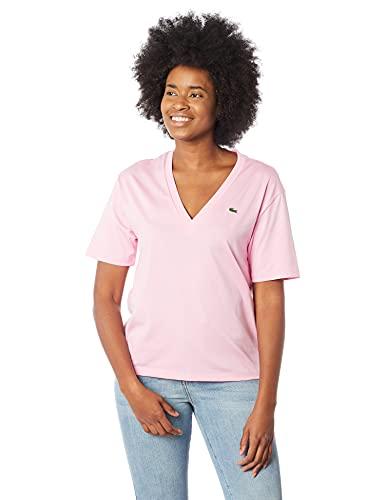 Camiseta Straight Fit Lacoste Rosa G