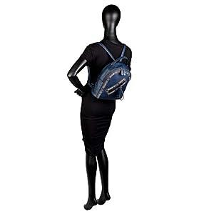 31M16o3F8aL. SS300  - Lois - Mochila de Mujer de Diseño Casual. Cuero PU. Acolchada y Bordada. Práctica Cómoda Resistente y Ligera Bonito Diseño. Marca Original. 304789