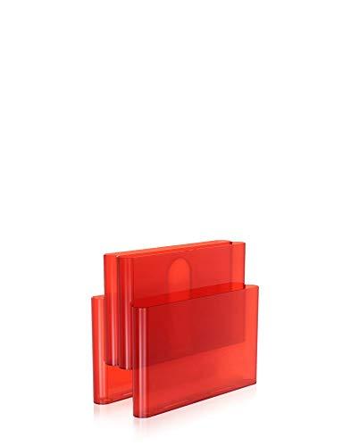 Kartell Magazine Rack, Orangerot