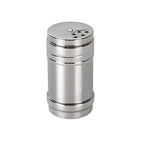 Verdental Stainless Steel Dredge Salt/Sugar/Spice/Pepper Shaker Seasoning Cans with Rotating Cover
