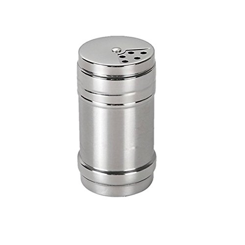 Verdental Stainless Steel Dredge Salt/Sugar/Spice/Pepper Shaker Seasoning Cans with Rotating Cover