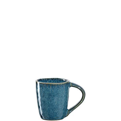 Leonardo Matera Espresso-Tassen 4-er Set, spülmaschinengeeignete Espresso-Gläser, 4 Mokka-Becher aus Steingut, Keramik-Tassen, blau 90 ml, 018596