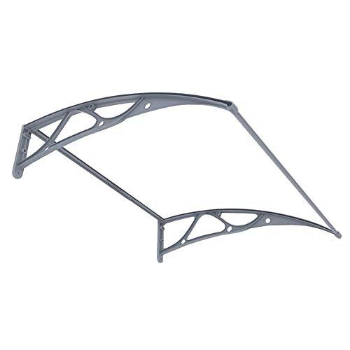 Door Canopy Awning Anti-UV Rainproof Roofing Canopy, Outdoor Garden Front Door Window, Polycarbonate Transparent, Customizable-80x120cm