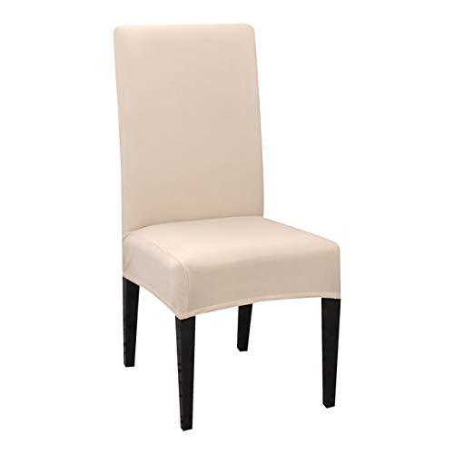 NGHXZ Comer Fundas para sillas, 1/2/4/6 / 8PCS Presidente del Color sólido de la Cubierta Spandex Estiramiento elástico Presidente Covers Fundas Fundas extraíble Lavable.