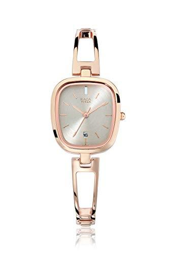 Compare Titan 9710wm01 Raga Rose Gold Analog Watch For Women Price In India Comparenow