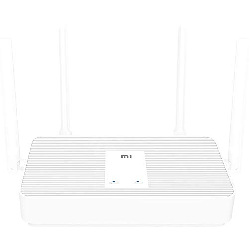 Xiaomi Router AX1800 WiFi 6 1800 Mbit/s Chip de 5 núcleos 256 MB de RAM 2.4GHz/5GHz Red de Malla de frecuencia Dual AX5 4 Antenas de Alta Ganancia para IPTV VPN Blanco (AX1800)