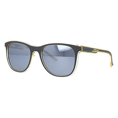 Police - Gafas de sol offset 1 SPL960 KAUP 54 – 19 – 145 Unisex gris amarillo lentes smoke multicapa blanca polarizada