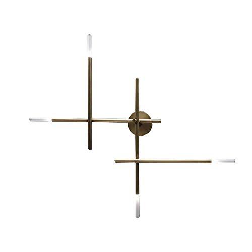 BDwantan Lámpara de pared de línea de lujo minimalista de bronce 73 x 80 cm, moderno hotel, hogar, sala de estar, interior LED, luz cálida, personalidad creativa
