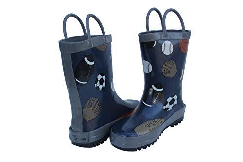 BOGS unisex child Skipper Waterproof Rain Boot, Glitter - Pink, 6 Big Kid US