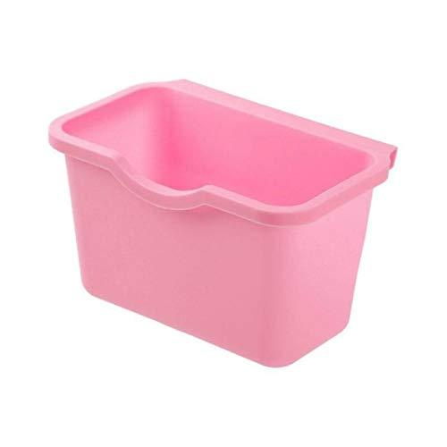 Fjsmjl Cesta de plástico para Colgar, Cubo de Basura, Cubo de Basura, Caja de Almacenamiento de Basura, Soporte de Cocina de Escritorio, Puerta de Armario
