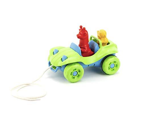 Green Toys Nachziehauto Nachziehspielzeug Kleinkind, grün