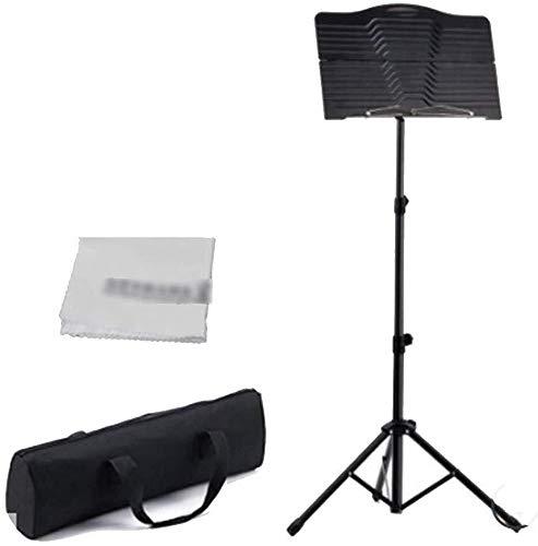 Lessenaar Folding Stand Portable Metal Hoogte verstelbaar Telescopische Belt Band Violin Piano Guitar Musical for instrumentale uitvoering Instrument waterdichte koffer 1211 muziektafel