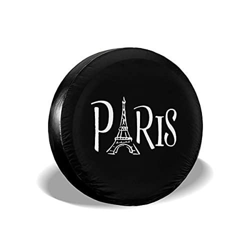 595 Cubierta para Rueda De Repuesto Torre Eiffel De París Protección De Neumáticos De Repuesto Universal Funda para Rueda De Repuesto Prueba De Polvo Cubierta del Neumático Vehicles Accessories XL