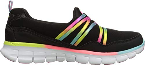 Skechers Damen SynergyScene Stealer Sneakers, Schwarz (BMLT), 38 EU