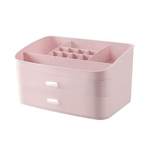 LYN Kosmetik Organizer, Cosmetic Holder Organizer Aufbewahrungsbox Schublade Desktop Princess Dresser Große Kapazität Skincare Rack (Farbe : Rosa)