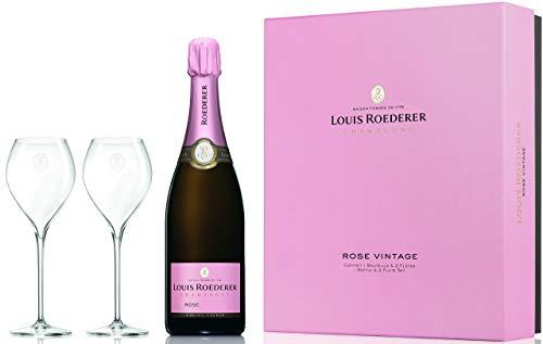 Louis Roederer Champagne Brut Rosé Genuss zu Zweit Geschenkpackung Roséchampagner (1 x 0.75 l)