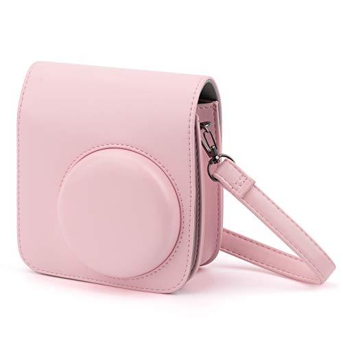 Tasche für Fujifilm Instax Mini 8 8+ / Mini 9,HONEYWHALE Sofortbildkamera Schutzhülle,Reisekamera-Hülle mit Verstellbarem Gurt (Rosa)