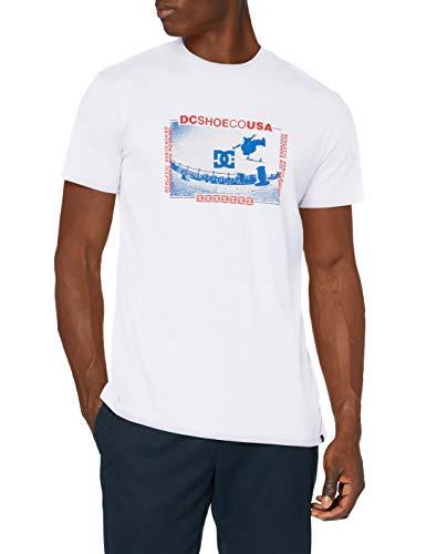 DC Shoes Olze - Camiseta para Hombre Camiseta, Hombre, White, S