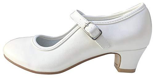 La Senorita Hiszpańskie buty Flamenco – Ivory białe, biały - Weiß Ivory - 35 EU
