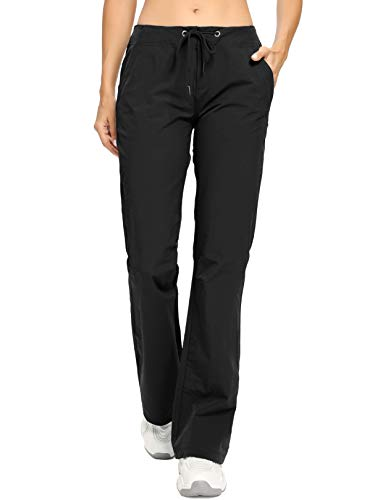 Women's Golf Pants Stretch Lightweight Breathable Quick Dry Anytime Outdoor Boot Cut Casual Pant,2064,Black,US 8
