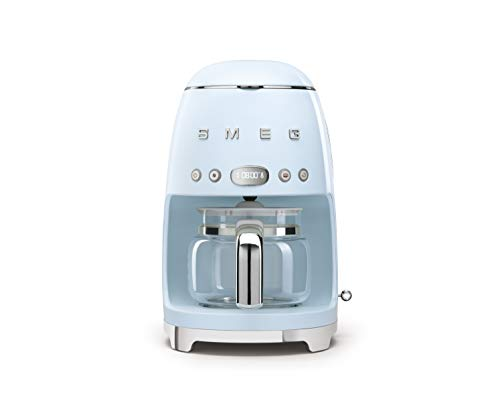 Smeg 50's Retro Style Aesthetic Drip Filter Coffee Machine, 10 cups, Pastel...