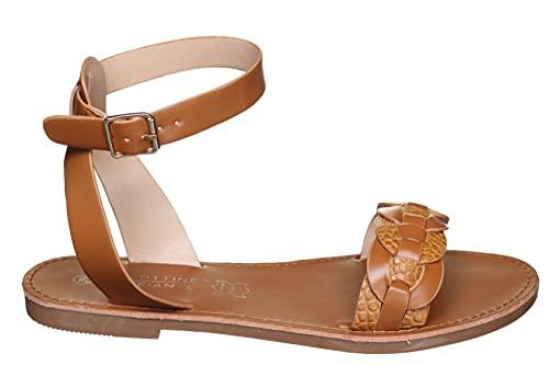 La Bottine Souriante - Sandales plates Btys2768 Camel - Couleur Marron - Taille 41
