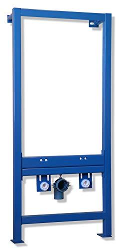 Lavita Domino Base Montage-Element für Bidet, Vorwandelement selbsttragend, pulverbeschichteter Rahmen, Höhe 111-134 cm einstellbar
