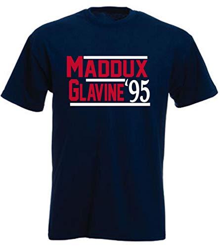 Shedd Shirts Navy Atlanta Maddux Glavine 1995 T-Shirt Adult