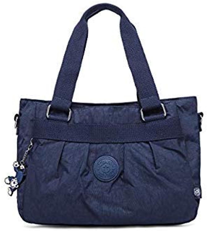 Bloomerang TEGAOTE Vintage Women Shoulder Bag Female Causal Totes for Daily Shopping All-Purpose Dames Handbag Designers Top-Handle Bags color Dark blueee 35CMX14CMX26CM 1557