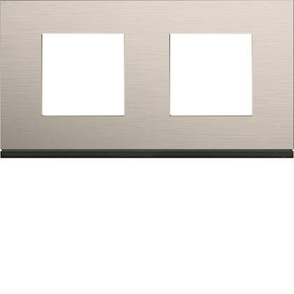 Placa de acabado horizontal Gallery de aluminio (2 orificios, 71 mm, aluminio antiguo, WXP4512